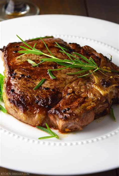 best t bone steak on a oven t bone steak with garlic and rosemary recipe kitchen swagger
