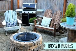 easy diy firepit progress on the fall backyard makeover
