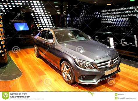 mercedes showroom germany mercedes w205 c180 editorial photo image 49884801