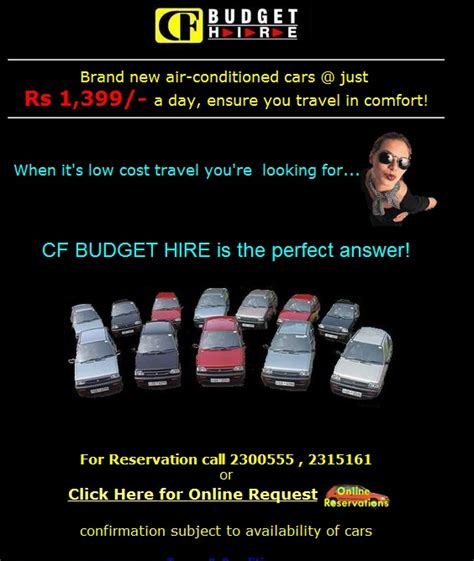 car service for a day central finance budget rent a car service rs 1 399 00