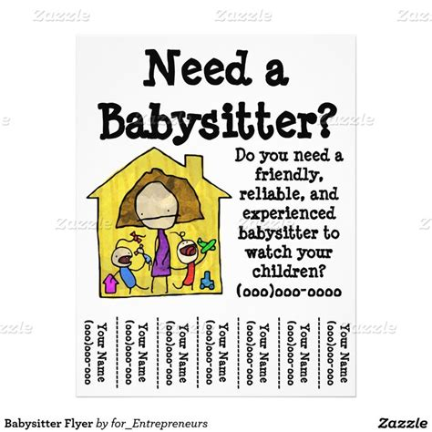 babysitting flyers 1000 ideas about babysitting flyers on
