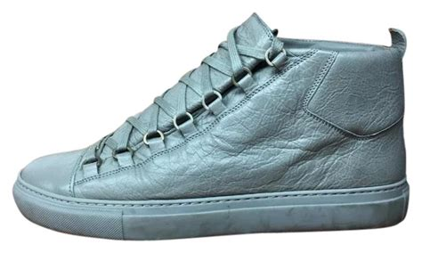 balenciaga grey s leather high top sneaker 412381 size42 sneakers size us 9 regular m