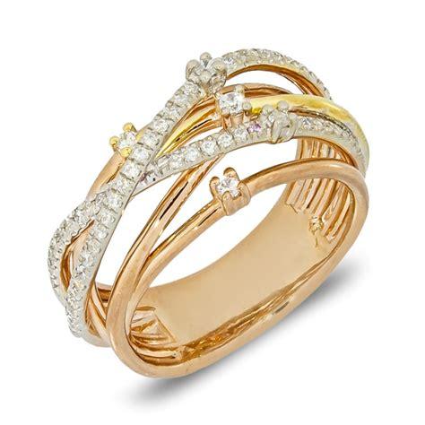 ring italian design white gold yellow gold pink