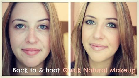 natural makeup tutorial for school back to school quick natural makeup tutorial talk