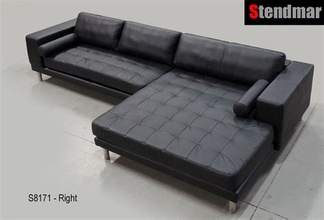 Wide Leather Sofa by 132 X 71 Quot Wide Chaise Modern Leather Sectional Sofa