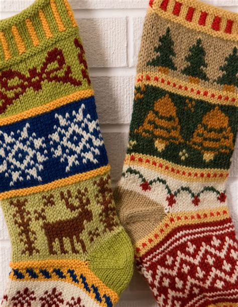 pattern knitted christmas stocking beginners mix it up christmas stranded stocking pattern knitting