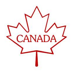 Canada Maple Leaf Outline by Canadian Maple Leaf Cliparts Co