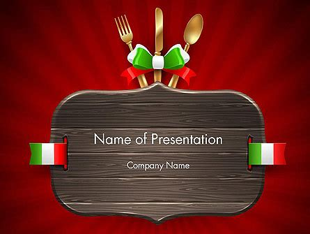Italian Restaurant Powerpoint Template Backgrounds 12533 Poweredtemplate Com Italian Powerpoint Template