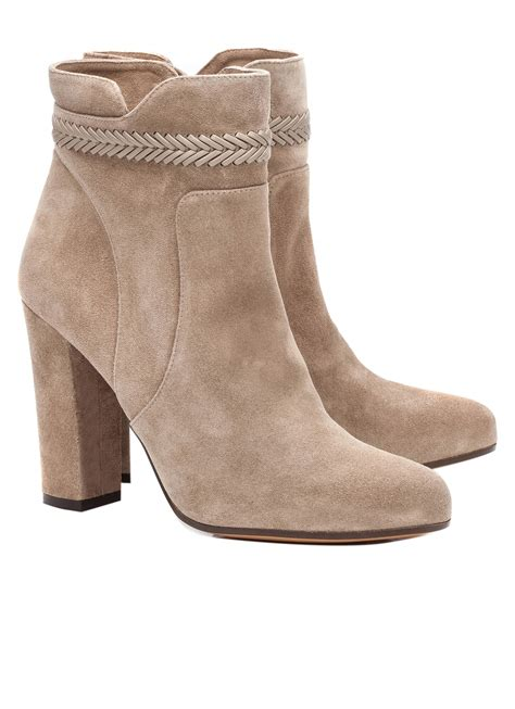 suede high heel ankle boots high heel ankle boots in taupe suede shoe store