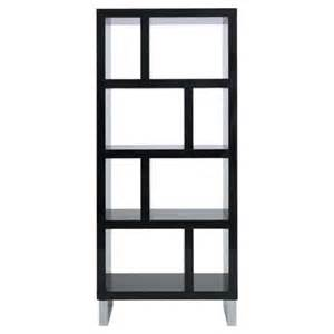 high gloss black bookcase buy costilla 4 shelf bookcase black gloss from our