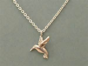 How To Make Gold Jewelry - sterling silver hummingbird necklace silverloonjewelers jewelry on artfire