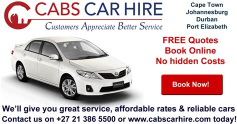 Car Rental In Port Elizabeth by Cabs Car Hire South Africa Affordable Car Rental Rates