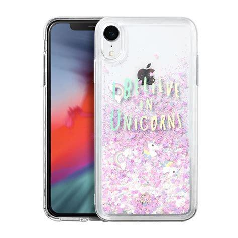 laut unicorns for iphone xr rainbow durable reflective glitter cases