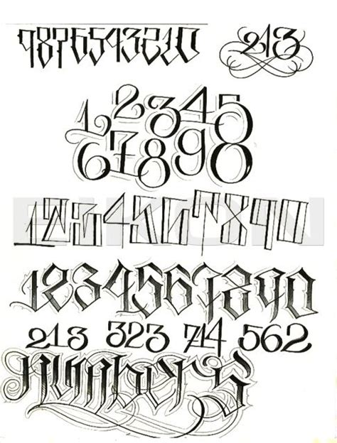 tattoo number fonts best 25 lettering alphabet ideas on