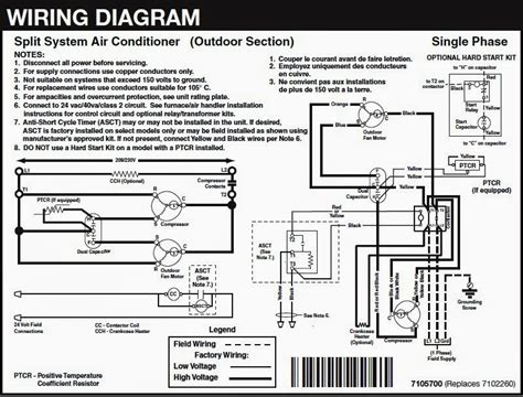 central air conditioner wiring diagram wiring diagrams