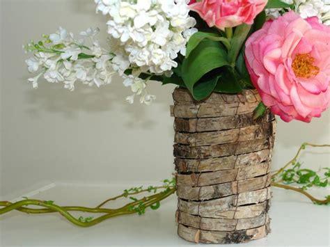 birch bark vases planter wedding table decor flower pot