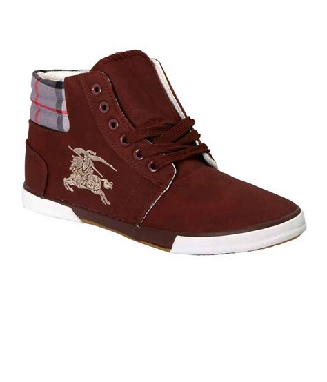 vittaly mens maroon canvas shoes price in india buy