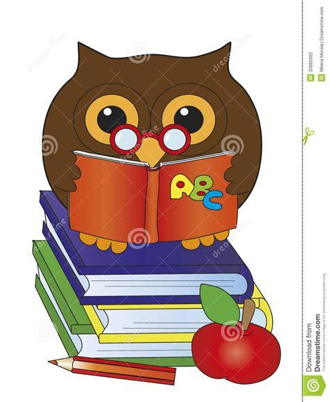libreria il gufo gufo con i libri fotografia stock immagine 30860992