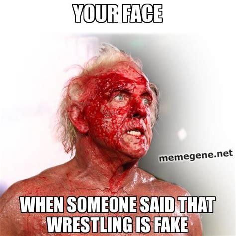Wrestling Meme Generator - your face when someone said that wrestling is fake