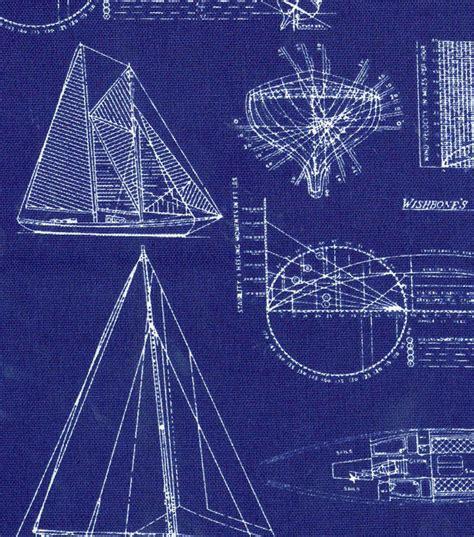 blue home decor fabric nautical fabric sailboat draft blue home d 233 cor fabric