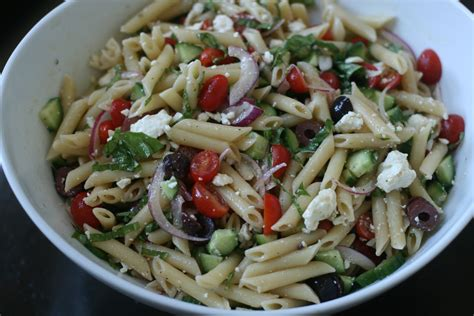 Greek Pasta Salad | greek pasta salad recipe dishmaps