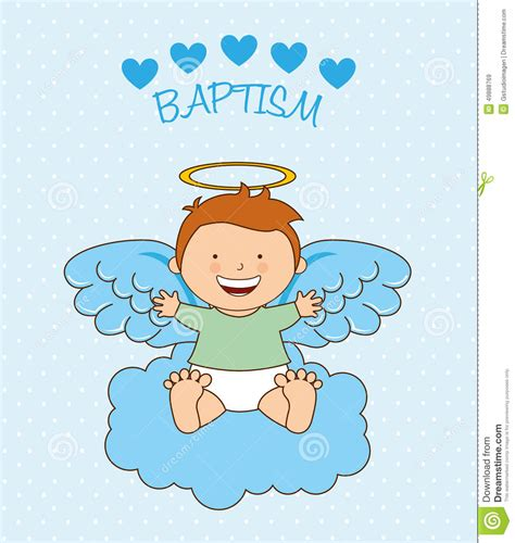 battesimo clipart baptism design stock vector illustration of card