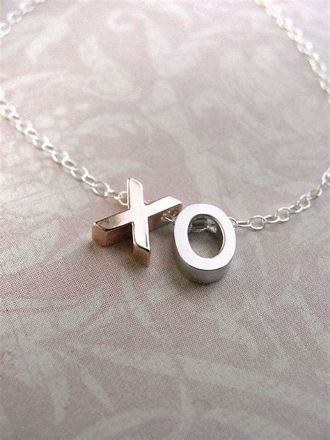xo charm necklace accessories initials
