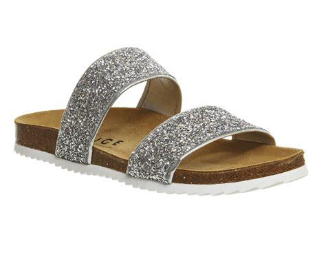 glitter sandals womens office oslo 2 silver glitter sandals ebay