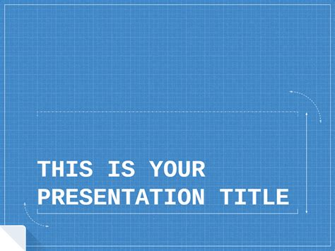 Free Presentation Template Technical And Formal Blueprint Powerpoint Template