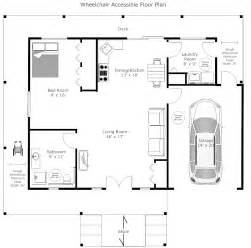 example image wheelchair accessible floor plan
