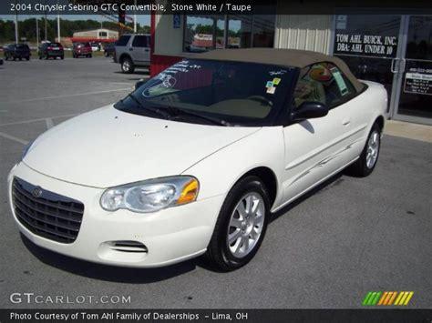 2004 Chrysler Sebring Gtc Convertible by White 2004 Chrysler Sebring Gtc Convertible