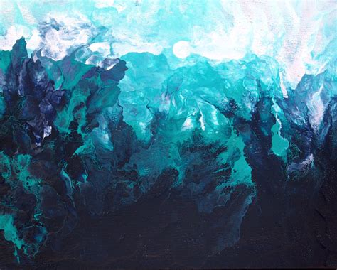 blue abstract painting blue abstract painting by light of the moon landscape water