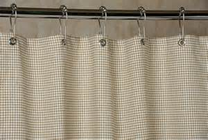 gingham shower curtain brown and white 72x72 by