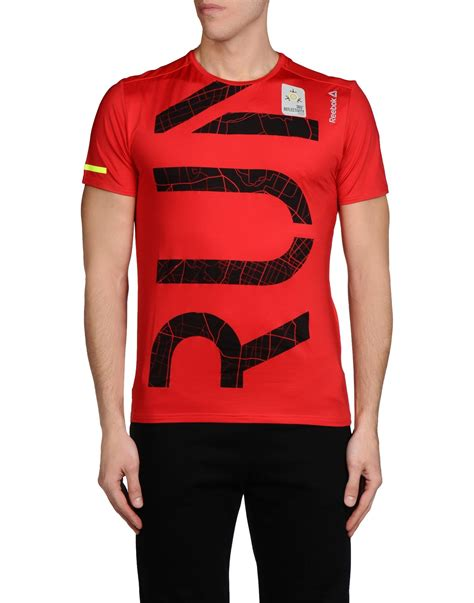 reebok t shirt in for lyst