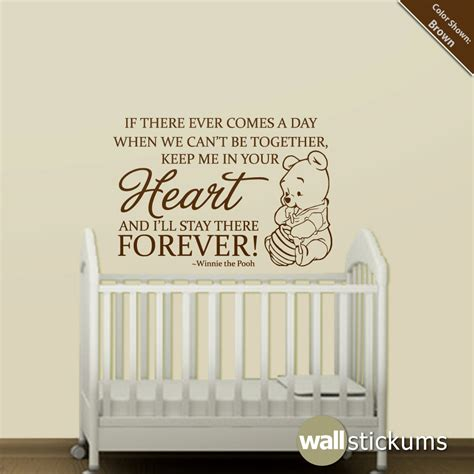 Nursery Wall Sticker Quotes nursery wall decal quote winnie the pooh heart forever quote