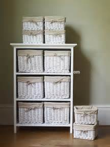 Wicker Bathroom Cabinet 3 Drawer Storage Cabinet With 3 Baskets Shelf Storage Unit Wicker Baskets Buy Storage