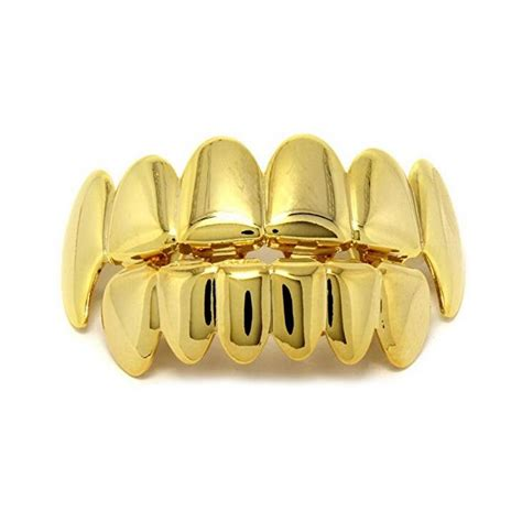 14k Gold Plated Mouse 14k gold plated teeth joker grillz top bottom