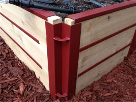 raised garden bed corner brackets custom landcsape ideas specialize in making products for your lanscaping needs
