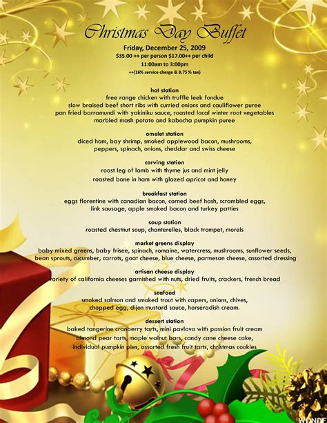 christmas eve buffet menu ideas orange county brunch today anaheim