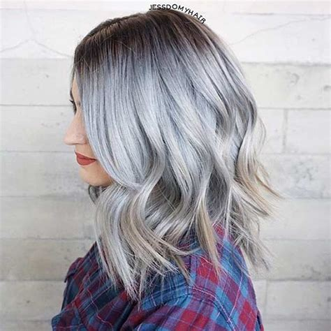 grey hair on mid length hair 31 best shoulder length bob hairstyles page 3 of 3