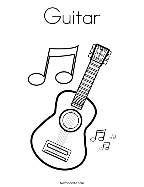 printable guitar images guitar coloring page twisty noodle