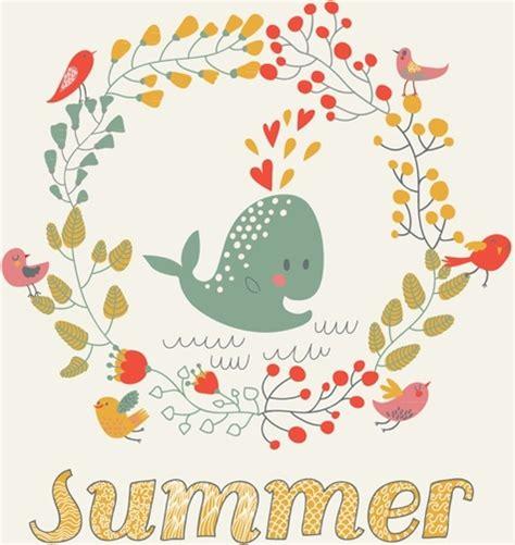 cartoon themes vector summer theme cartoon vector free vector in encapsulated