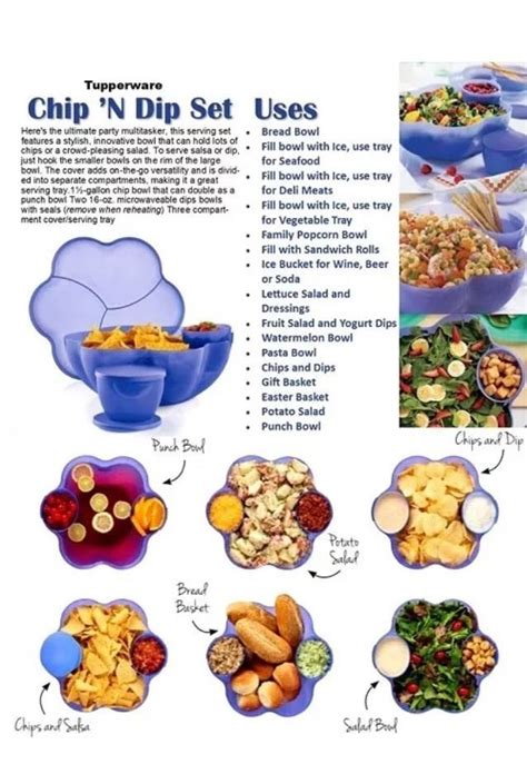 Tupperware Chip N Dip Activity new tupperware chip n dip set container w 2 bowls large free s h on ebay