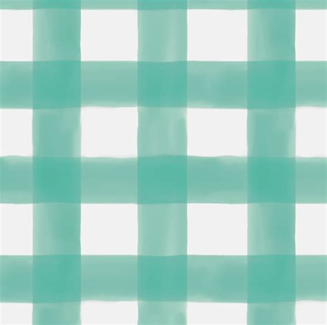 watercolor check pattern watercolor gingham in teal fabric willowlanetextiles