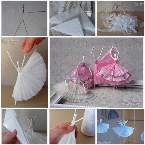 How To Make Paper Napkins - diy napkin paper ballerina