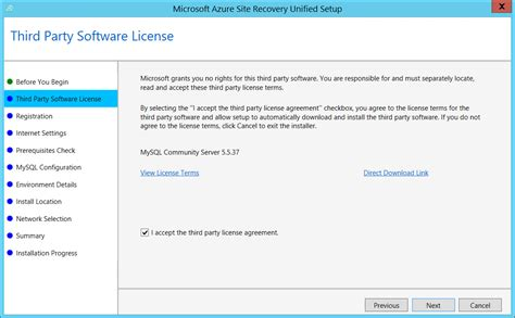 software reset arm set up the source and target for vmware replication to