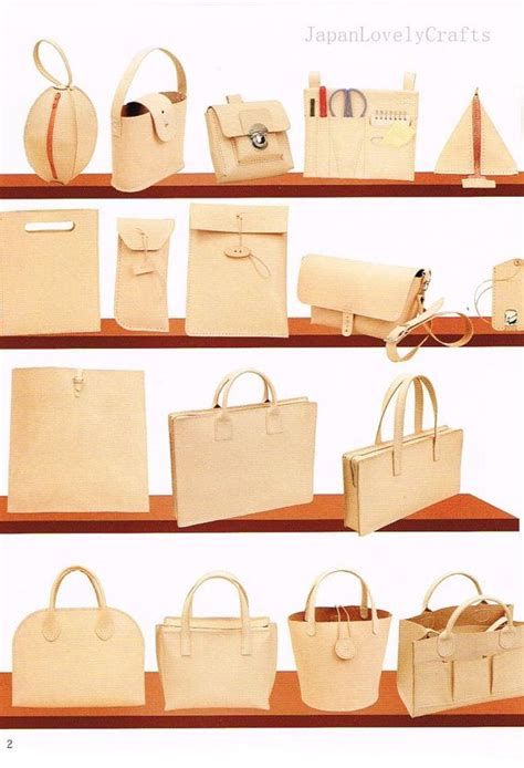 pattern for tote bag making hand sewn leather bag pattern natural tanned leather