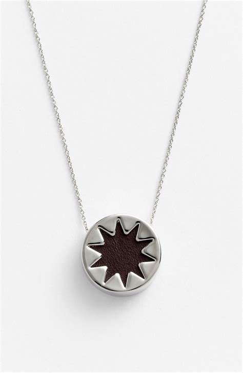 House Of Harlow Sunburst Necklace by House Of Harlow Mini Sunburst Pendant Necklace In Silver