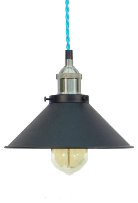 turquoise pendant lighting turquoise nickel black shade pendant light farmhouse