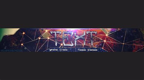 photoshop cc youtube banner template free download